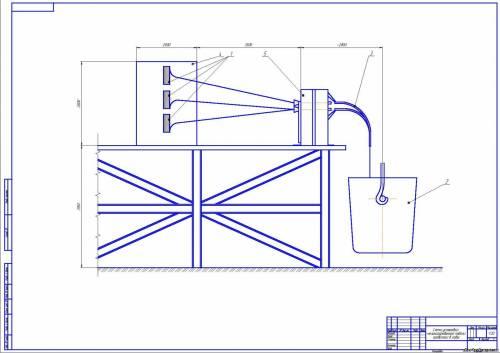 Схема механизированной подачи проволоки в ковш.